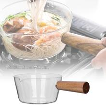 Milk-Pot Salad-Bowl Glass Open-Fire Transparent Home with Hot Fruit Food-Special Baby