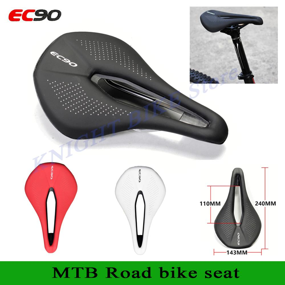Road Bike Saddle Mountain Bike Racing Saddle PU Soft Seat Cushion 243*155mm EC90