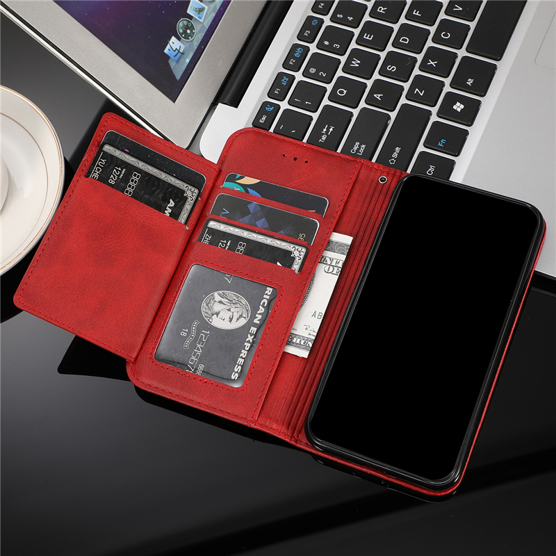 Leather Zipper Flip Cover Wallet Case For Samsung Galaxy S20 Ultra S10 S9 S8 Plus S7 Note 8 9 10 Cover 1