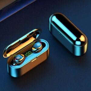 Image 5 - หูฟังไร้สายบลูทูธF9 TWSหูฟังกีฬาหูฟังสเตอริโอเบสชุดหูฟังหูฟังพร้อมกล่องชาร์จMic