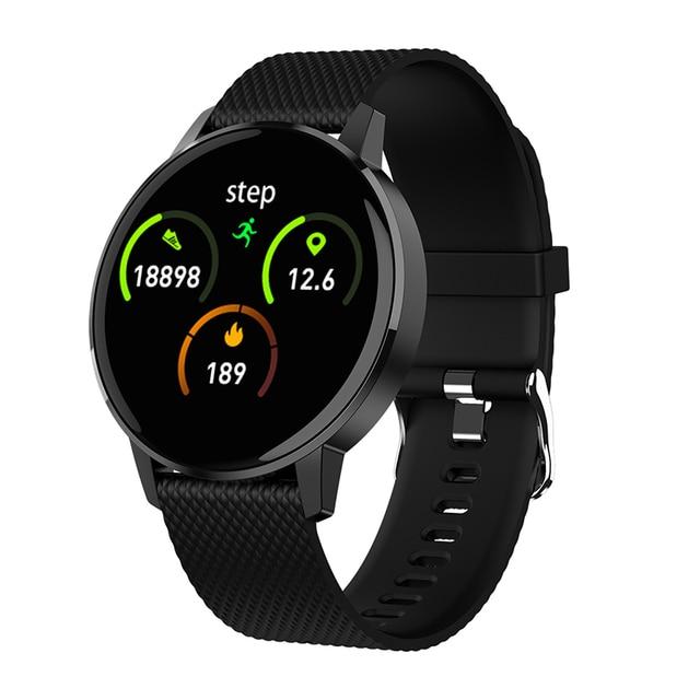 Astuto Della Vigilanza T4 Braccialetto Intelligente di Frequenza Cardiaca Monitor di Pressione Sanguigna di Chiamata di Promemoria Per Il Fitness Tracker Impermeabile Intelligente Orologio Per Android