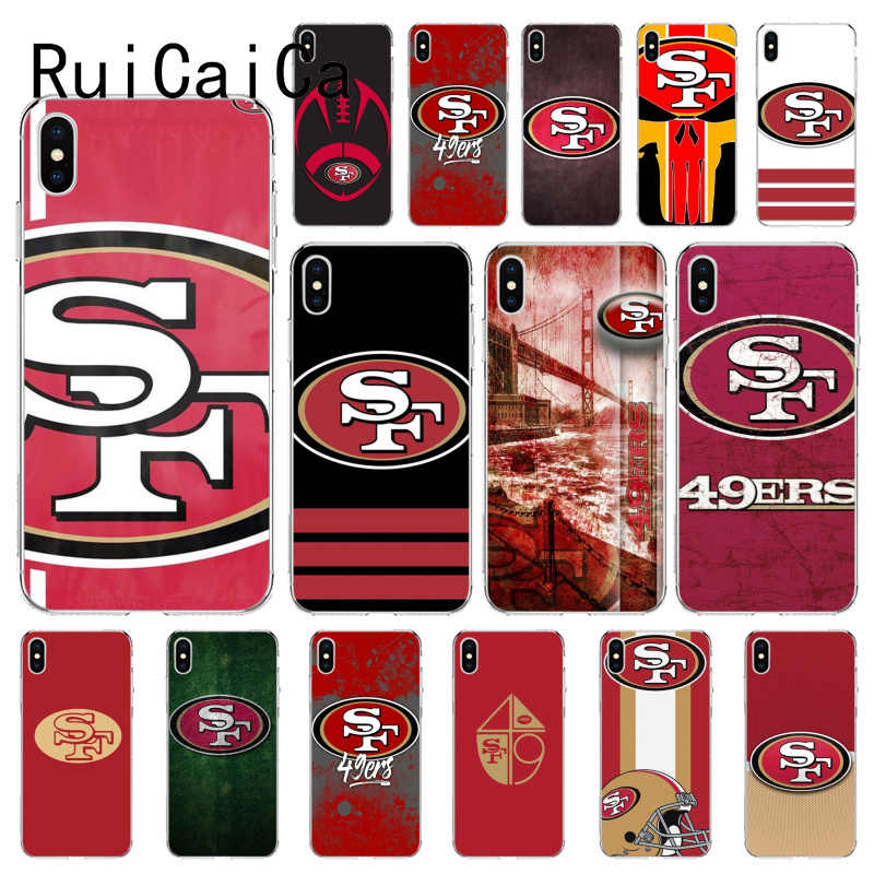 RuiCaiCa San Francisco 49ers DIY Luxus Fall für iPhone X XS MAX 6 6S 7 7plus 8 8 plus 5 5S XR 10 11pro Max