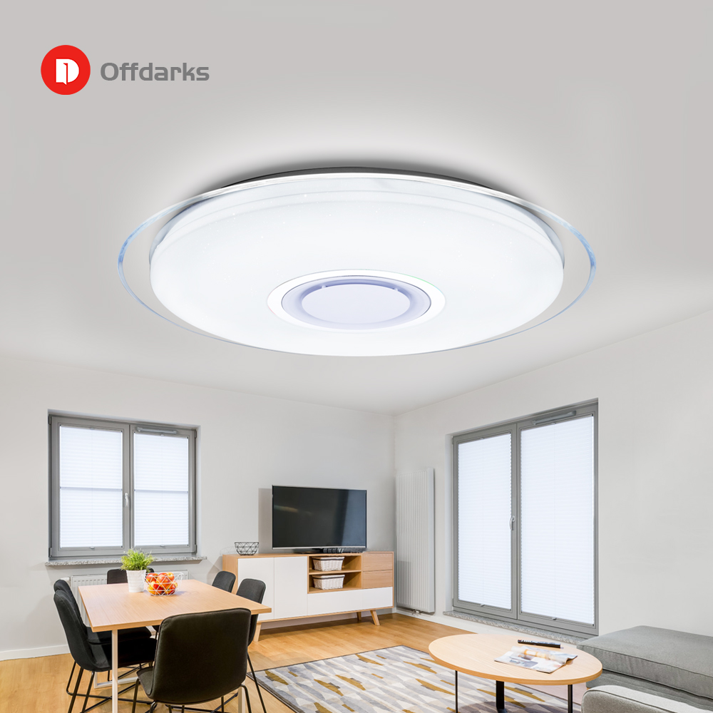 Image 2 - Modern LED ceiling Lights RGB Dimmable 25W 36W 52W APP Remote control Bluetooth Music light foyer bedroom ceiling lamp-in Ceiling Lights from Lights & Lighting