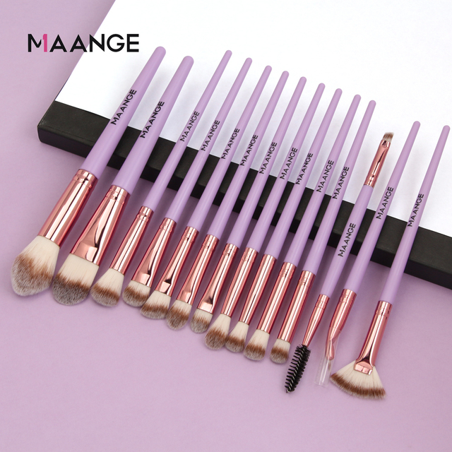 Makeup brushes set professional 12/14 pcs/lot Makeup Brushes Set Eye Shadow Blending Eyeliner Eyelash Eyebrow Brush For Makeup 2