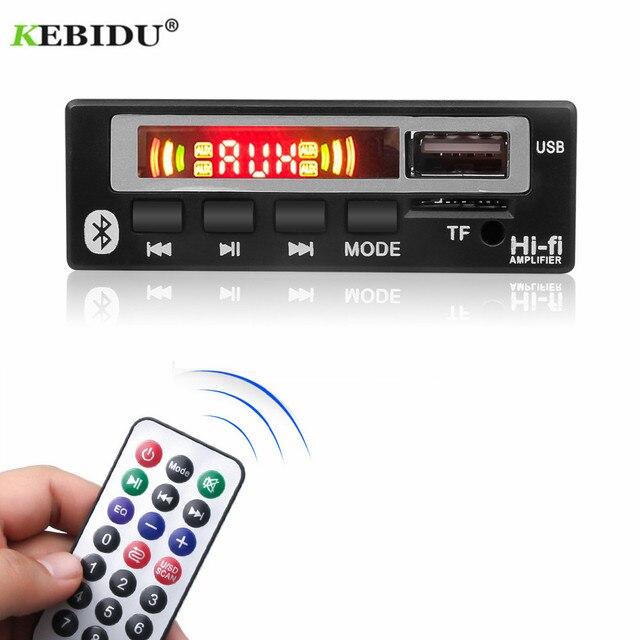 KEBIDU placa decodificadora WMA WAV con pantalla a Color, módulo de Audio de 5V y 12V, USB, TF, Radio FM, accesorios para coche