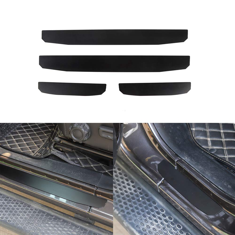 For Jeep Wrangler JL 4-Door ABS Inside Door Sill Scuff Plate 4pcs 2018-2019