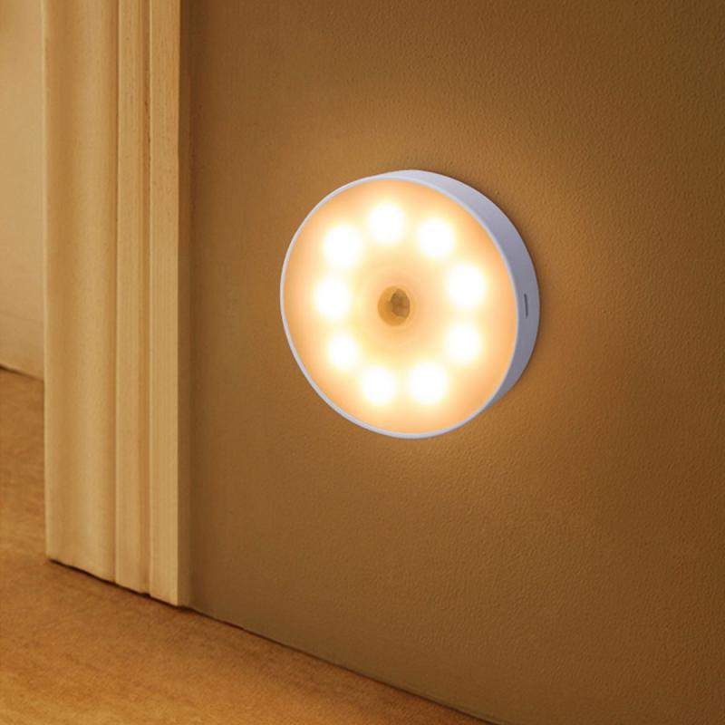 Зарядка зондирования Светодиодный Ночной светильник движения Сенсор светодиодный светильник Беспроводной энергосберегающий светодиодны...
