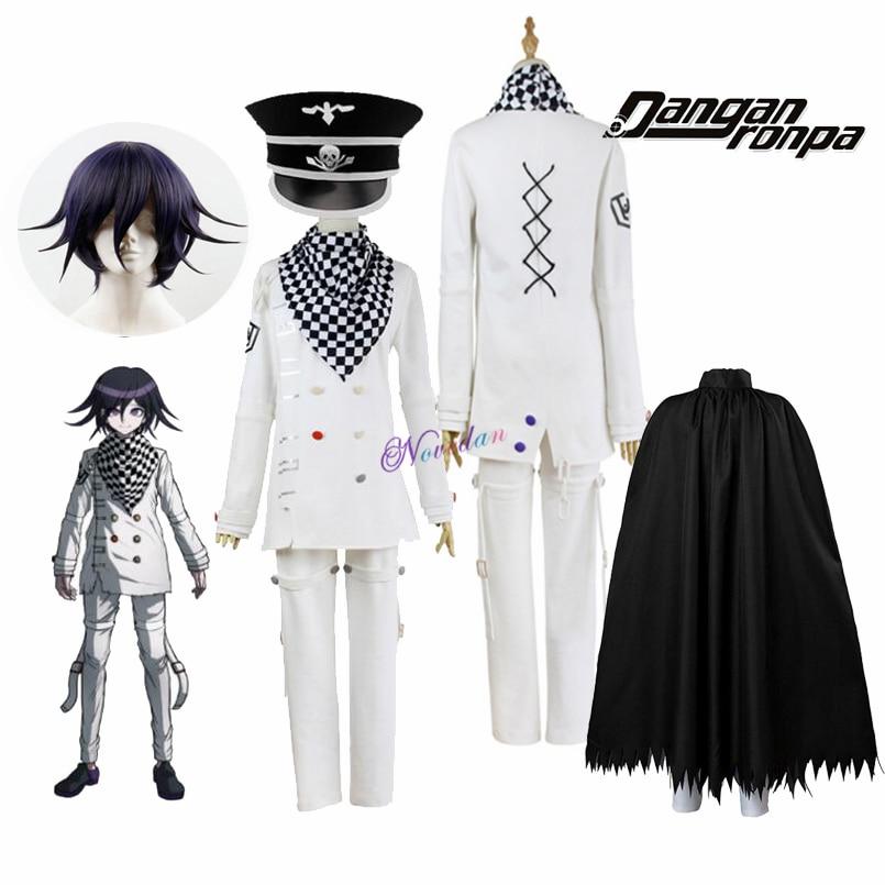 Anime Danganronpa V3 Killing Harmony Kokichi Ouma Cosplay Costume With Wig Cloak Cosplay Outfit Full Set Halloween Party Costume