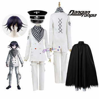 Anime Danganronpa V3 Killing Harmony Kokichi Ouma Cosplay Costume With Wig Cloak Outfit Full Set Halloween Party - discount item  50% OFF Costumes & Accessories