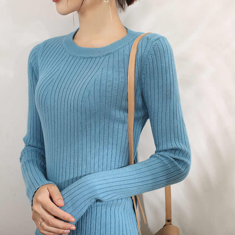 겨울 양모 두꺼운 외부 스웨터 니트 여성 풀오버 가을 2019 한국어 느슨한 스웨터 여성 캐셔 스웨터 숙녀 풀오버