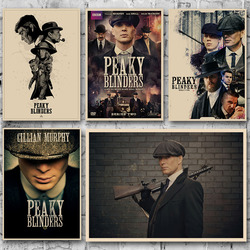 Peaky Blinders 5 TV Series Poster Vintage Wall Art Canvas Print Wallpaper 20x30 60x90cm Artwork Picture for Living Room Decor