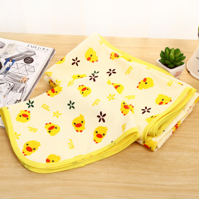Yellow Duck Baby Waterproof Urine Pad Mat Infant Changing Pad And Cover Cotton Washable Waterproof Bed Sheet Pad 3 Size