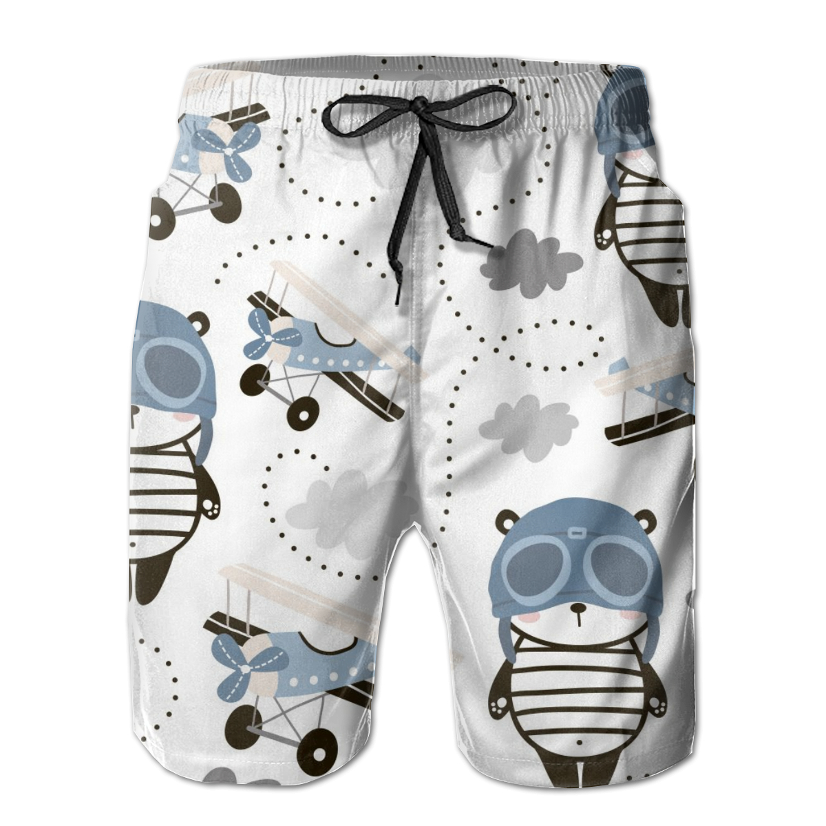 Boys Swim Trunks Hand Drawn Koala Bear Canvas Quick Dry Bathing Suits Beach Board Shorts