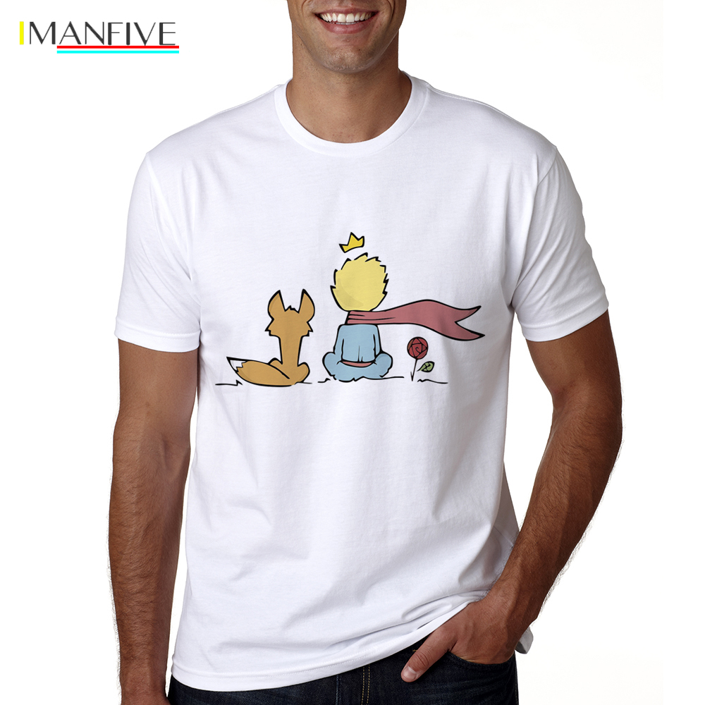 2018 Men The Little Prince Shirt Summer Funny T shirt Short Sleeve O neck The Little Prince Tshirt Male Cool Cartoon Tops Tees in T Shirts from Men 39 s Clothing