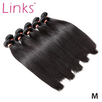 Links 8 40 Inch Brazilian Hair Weave Bundles 1/3/4 Straight Bundles Natural Color 28 30 32 34 Inch Bundles Remy Hair Extensions