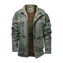 Warm Denim Jackets Men Winter Retro Thick Military Tactical Parkas Male Eu Size S-4XL Hooded Windbreaker Mens Coats Veste Homme