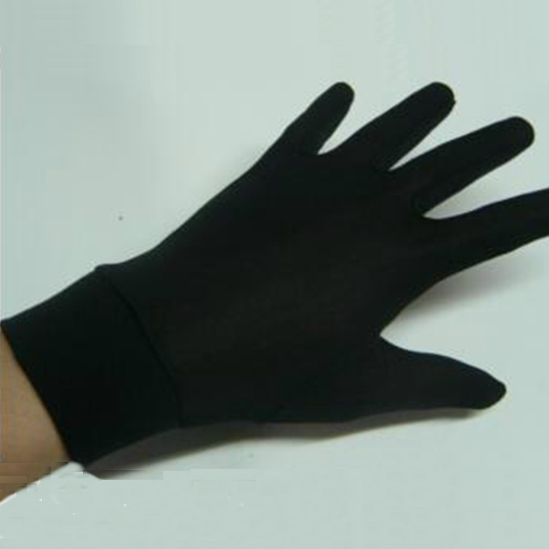 1pair Pure Silk Black Liner Inner Thin Gloves Bike Motorcycle Soft Sport Gloves Driving Cycling Party Gloves One Size CYF9165
