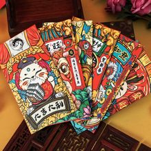 6PCS Cartoon Rat Red Envelopes Happy New Year Chinese Style Money Envelopes Cute Red Bag Kids Gift Lucky Money Envelopes(China)