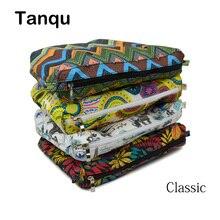 Tanqu新カラフルな防水裏地挿入用のファスナーポケットクラシックobagキャンバスo内ポケットバッグ