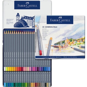 Germany Faber-Castell water-soluble color pencils with iron box 12 colors& 24 colors &36 colors &48 colors