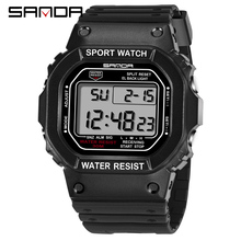 SANDA Military Sports Watches Electronic Mens Watches Top Brand Luxury Male Clock Waterproof LED Digital Watch Relogio Masculino