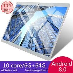 2020 10-дюймовый планшетный ПК 4G Восьмиядерный супер планшет Ram 6G + 128G WiFi GPS 10 планшет SIM GPS Android 8,0
