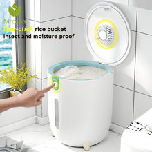 10KG Kitchen Collection Nano Bucket Insect-Proof Moisture-Proof Sealed Rice Cylinder Grain Dog Food Household Storage Rice Box