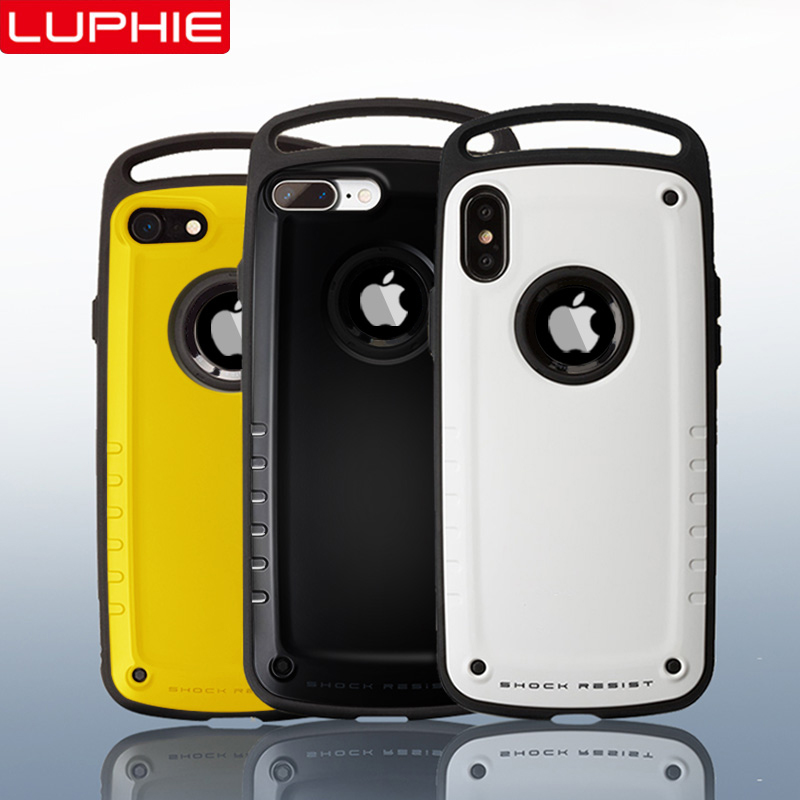 LUPHIE Hybrid Shockproof Case For IPhone X XS Max XR Heavy Duty Armor Case For IPhone XS 8 7 Plus Hard Silicone Case Sport Cover