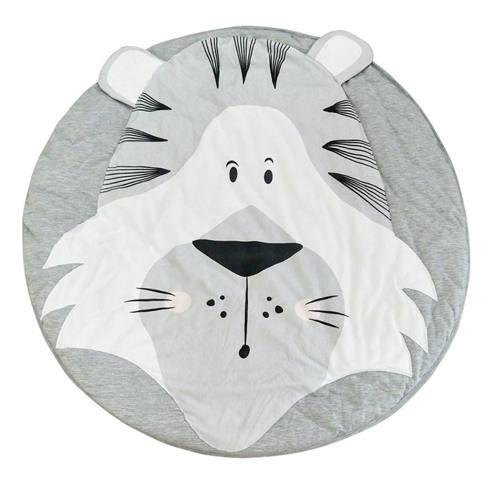Play Mats Cartoon Animal Baby Mat Newborn Infant Crawling Blanket Cotton Round Floor Carpet Rugs Mat For Kids Room Nursery Decor