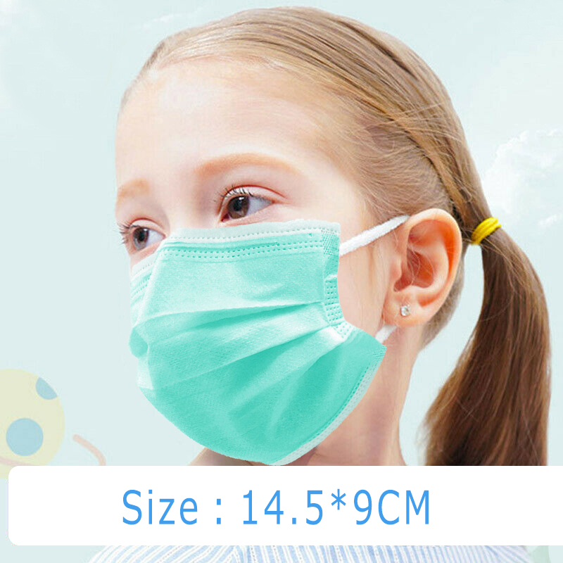 50Pcs Mask Mascarillas Disposable Face Mask Mascarilla Masque Mascherine 3 Layers Non-woven Dust Filter For Childrens Adults