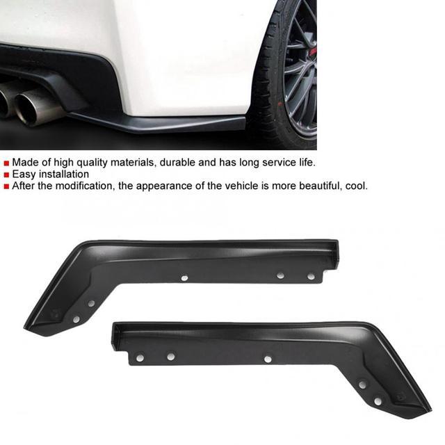 2 Pcs Car Rear Spat Back Corner Cornerite Plate Fit for Subaru 2015 2016 WRX STi Car Body Kits