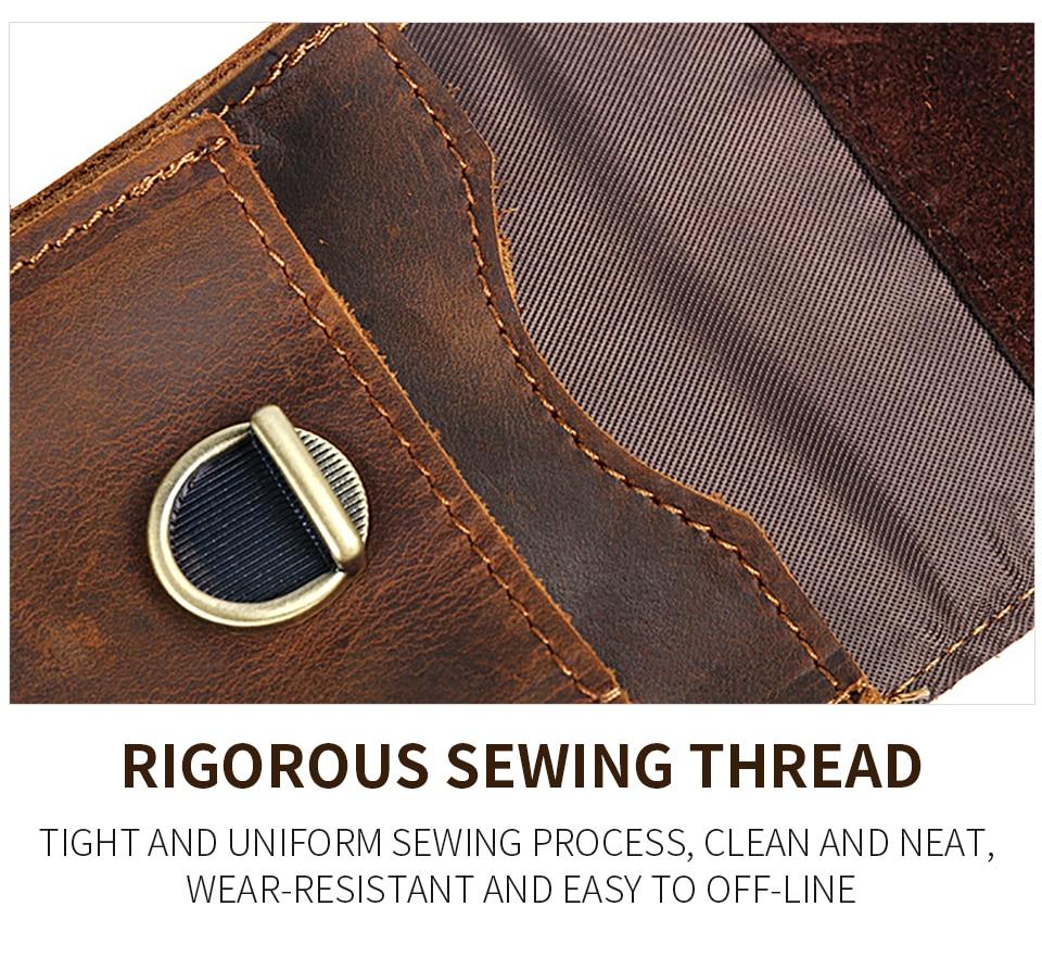 multifuncional pequeno saco de cintura de couro