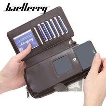Многофункциональный мужской клатч baellerry винтажный бумажник