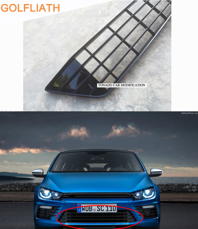 For Scirocco R front bumper lower grille grills fit for  scirocco R bumper 2015 2016|Racing Grills| |  - title=