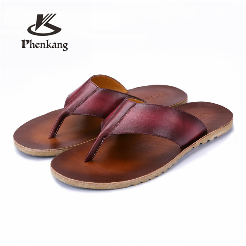 Phenkang Men Slippers Light Casual Soft Bottom Slippers Male Summer Youth Fashion Outdoor Beach Sandals 2020 Mans Footwear Shoes