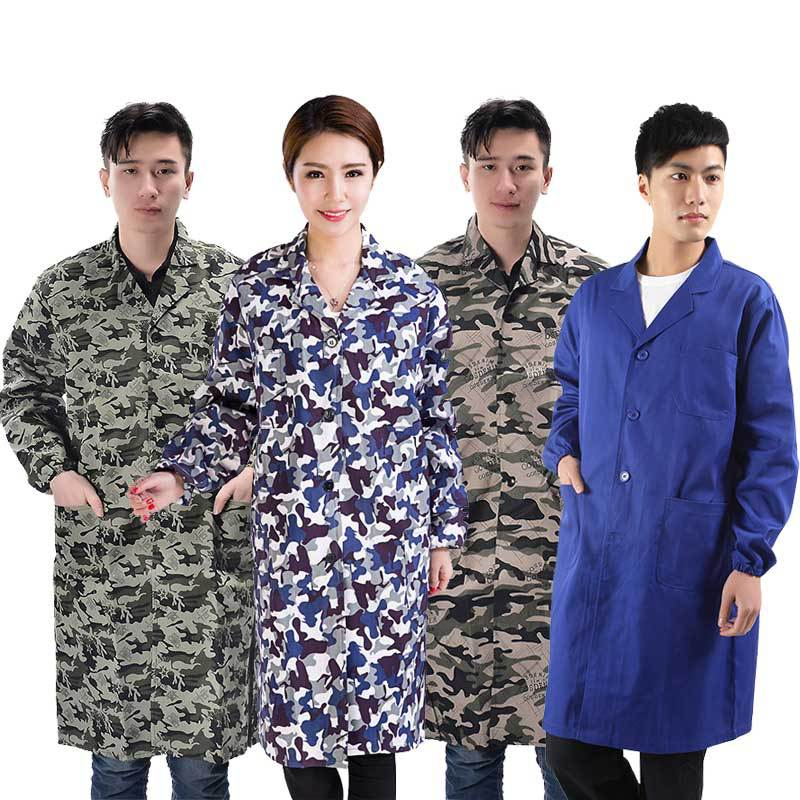 Blue Gown With Dustproof Work Clothes Antifouling Overclothes Men And Women Adult Labor Suit Handling Decoration Work Clothes