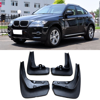 OEM STYLED MUD FLAP FIT FOR BMW X6 E71 2008 2009 2010 2011 2012-2014 MUD FLAPS SPLASH GUARD FRONT REAR FENDER ACCESSORIES MOLDED