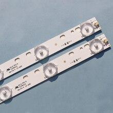 Barra de luz universal de 32 pulgadas 10 unidades por lote, lámpara de 3V de longitud, montaje de 57CM, barra de retroiluminación instalada, sustrato de aluminio