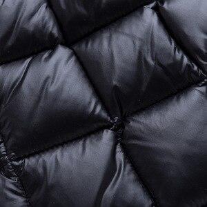 Image 3 - חם אופנה של הילדה למטה מעילים ארוך דגם ילדי אמיתי למטה מעיילי מעיל ילדי נער עבה למטה הלבשה עליונה עבור קר חורף