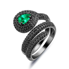 Personality exaggerated spirit snake ring female snake-shaped decorative nightclub index finger jewelry VR689