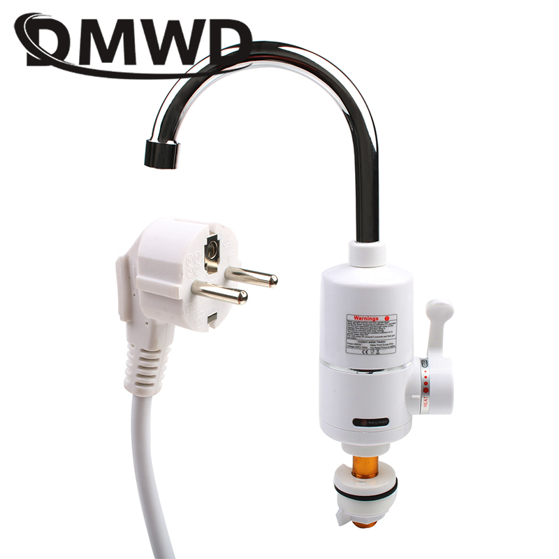 DMWD 3000W Instant Electric Shower Faucet Bathroom Kitchen Tankless Instantaneous Heating Hot Cold Water Heater Tap EU US Plug