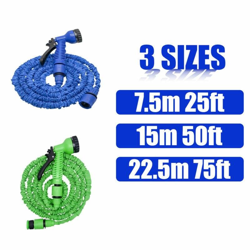High Pressure Water Gun Flexible Lightweight Hose Spray Expandable Garden Water Hose Pipe 25/50/75FT For Car Wash