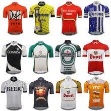خيارات متعددة البيرة الدراجات جيرسي الرجال قصيرة الأكمام روبا ciclismo الترياتلون الدراجات الملابس ملابس للدراجة الجبلية جيرسي