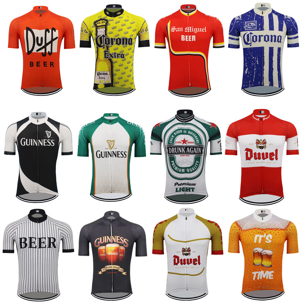 Multiple Choices Beer Cycling Jersey Men Short Sleeve Ropa Ciclismo Triathlon Cycling Clothing Bike Wear Mtb Jersey MTB