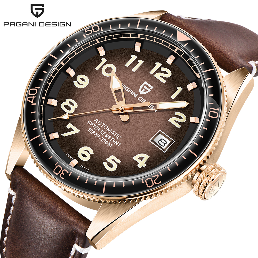 PAGANI DESIGN Top Brand Mens Watches Automatic Leather Strap Waterproof Watch Men Luxury Business Sport Mechanical Wristwatch
