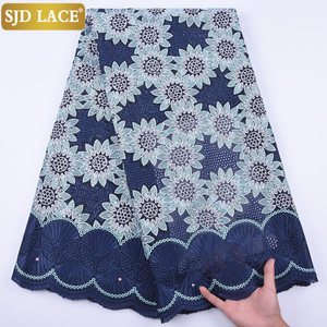 Image 1 - 5Yards Garment Material Original Swiss Voile Lace In Switzerland Eyelet African Nigerian Dry Lace Fabric For Healthy Skin A1728