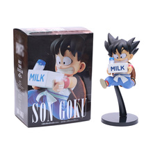 16cm Dragon Ball Z Milk Son Goku Childhood PVC Action Figure Toys Anime DBZ World Figure Colosseum Child Goku Figurine Model цена 2017