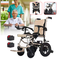 Electric Foldable Wheelchair Heavy Duty Lightweight Mobility Folding Power Chair Easy To Carry For The Elderly Aged Disabled