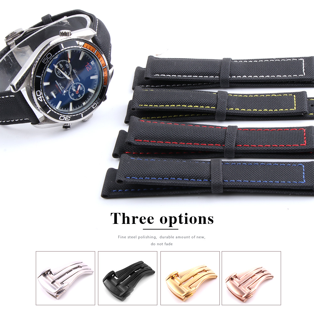 19 20mm 21 22mm 23mm Nylon Leather Canvas Watchband For Omega Watch Strap For Citizen For Carrera For IWC Bracelets Accessories