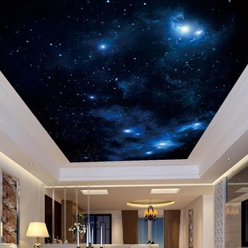 Настенные 3D-обои на заказ, постер с изображением красивого звездного неба, современное потолочное украшение для гостиной, спальни, настенное покрытие